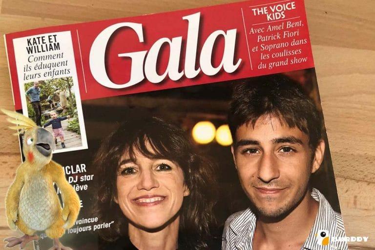 Burddy photobooth in Gala magazine