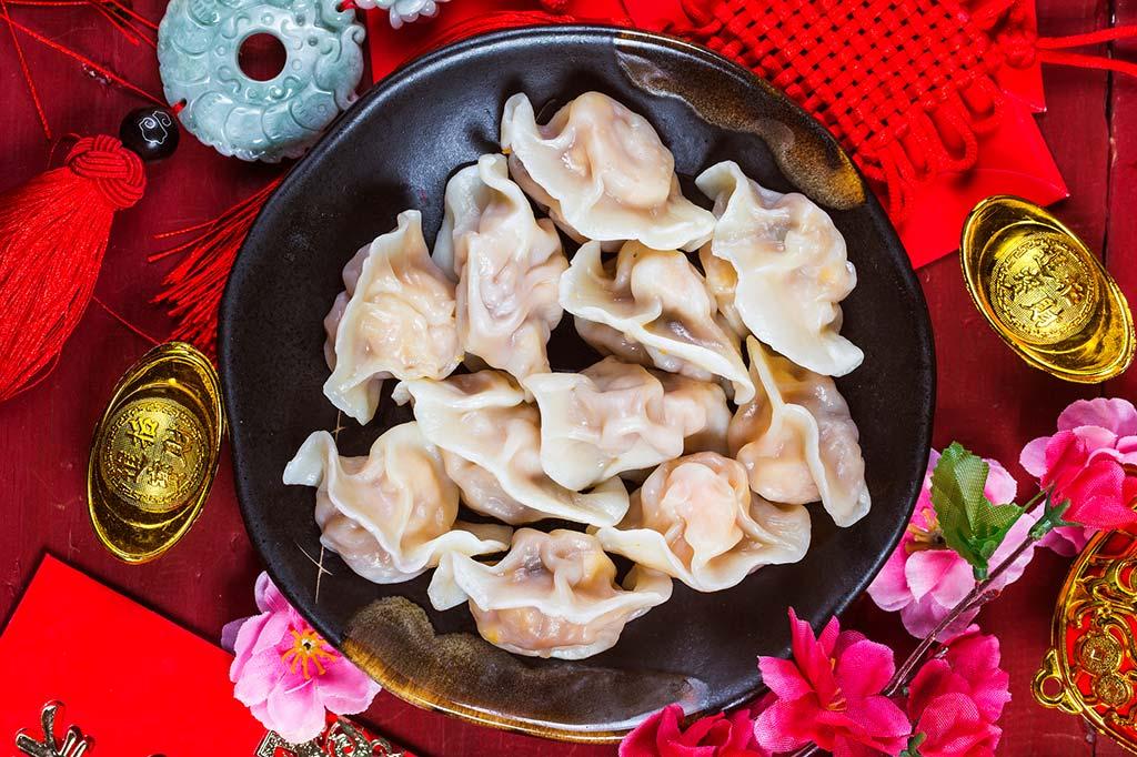 Ravioli, ook wel jiǎozi genoemd, voor het Chinese Nieuwjaar
