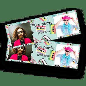 Met de Burddy fotobooth kan je een horizontaal strookformaat afdrukken