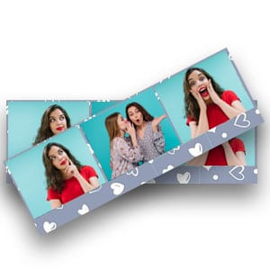 photoboothlijsten in horizontaal strookjesformaat