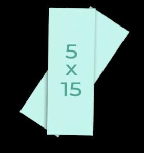 Fotoformaat verticale stroken 5x15