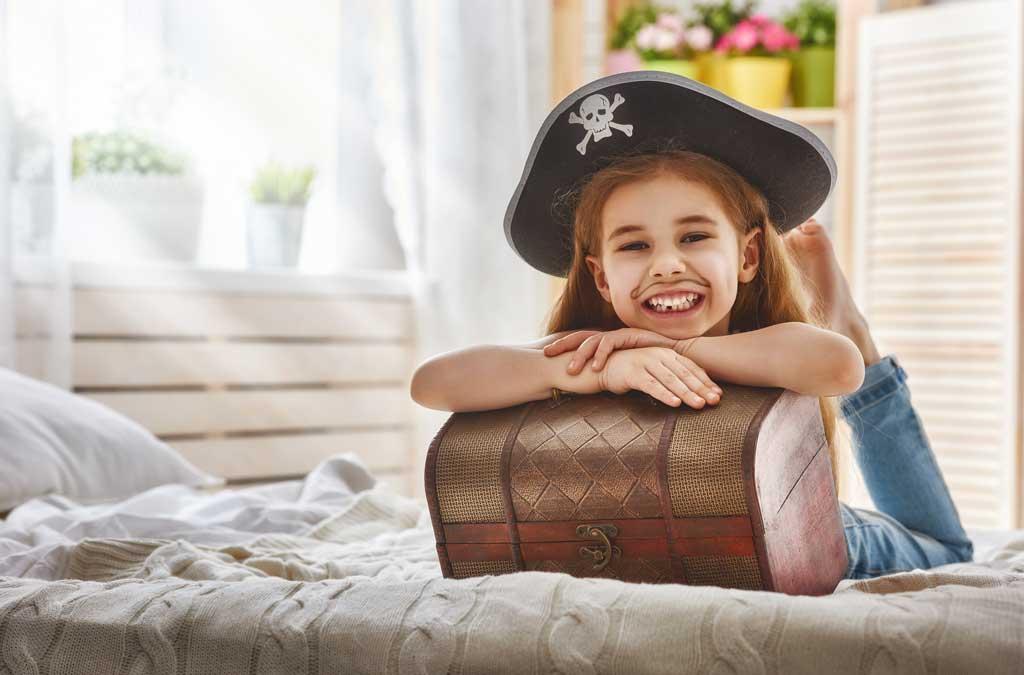 Het piratenthema voor een kinderverjaardagsfeestje